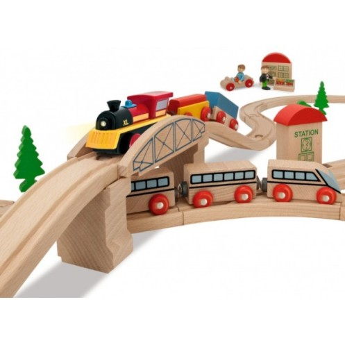 eichhorn-drewniana-kolejka-lokomotywa-81-elem-tory-plan-budowy